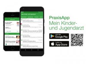 """Laden Sie sich die App """"Mein Kinder- und Jugendarzt"""" herunter."""